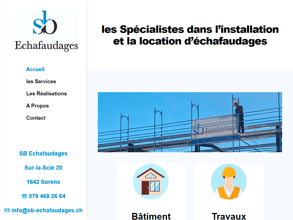 Sbechafaudages.ch
